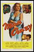 "Movie Posters:Bad Girl, Man Crazy (20th Century Fox, 1953). One Sheet (27"" X 41""). ..."