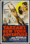 "Movie Posters:Adventure, Tarzan's New York Adventure (MGM, 1942). One Sheet (27"" X 41"")Style C. Adventure. Starring Johnny Weissmuller, Maureen O'Su..."