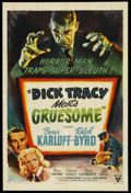 """Movie Posters:Crime, Dick Tracy Meets Gruesome (RKO, 1947). One Sheet (27"""" X 41""""). ..."""
