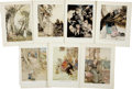 Antiques:Posters & Prints, Arthur Rackham. Seven Mother Goose Fairy Tale Color Illustrations.7 x 9.25 inches. From Mother Goose: The Old Nursery Rhy...(Total: 7 Items)