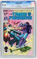 Modern Age (1980-Present):Science Fiction, Transformers #6 (Marvel, 1985) CGC NM/MT 9.8 White pages.
