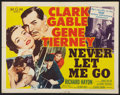 "Movie Posters:Adventure, Never Let Me Go (MGM, 1953). Half Sheet (22"" X 28"") Style A.Adventure.. ..."