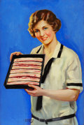 Mainstream Illustration, LAWRENCE WILBUR (American, 20th Century). AdvertisingIllustration, probably for Armour's Bacon. Oil on canvas.29.625 x...