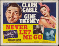 "Movie Posters:Adventure, Never Let Me Go (MGM, 1953). Half Sheet (22"" X 28"") Style B.Adventure.. ..."