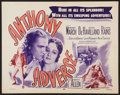 """Movie Posters:Adventure, Anthony Adverse (Dominant Pictures, R-1956). Half Sheet (22"""" X28""""). Adventure.. ..."""