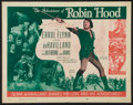 "Movie Posters:Adventure, The Adventures of Robin Hood (Dominant, R-1956). Half Sheet (22"" X28""). Adventure.. ..."