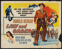 "Law and Order (Universal International, 1953). Half Sheet (22"" X 28"") Style B. Western"