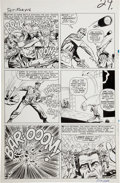Original Comic Art:Panel Pages, Dick Ayers and Frank Giacoia Sgt. Fury #16 page 18 Original Art (Marvel, 1965).