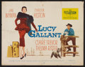"Movie Posters:Drama, Lucy Gallant (Paramount, 1955). Half Sheet (22"" X 28"") Style B.Drama.. ..."