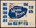 "Movie Posters:Adventure, The Adventures of Mark Twain (Warner Brothers, 1944). Half Sheet(22"" X 28"") Style B. Adventure.. ..."