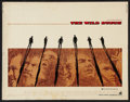 "Movie Posters:Western, The Wild Bunch (Warner Brothers, 1969). Half Sheet (22"" X 28""). Western.. ..."