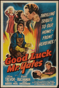 "Good Luck, Mr. Yates (Columbia, 1943). One Sheet (27"" X 41""). War"