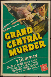 """Grand Central Murder (MGM, 1942). One Sheet (27"""" X 41""""). Mystery"""
