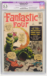 Fantastic Four #1 (Marvel, 1961) CGC Apparent FN- 5.5 Moderate (P) Cream to off-white pages