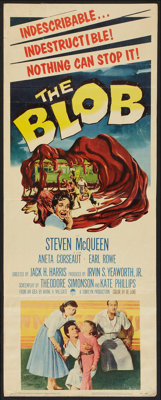 "The Blob (Paramount, 1958). Insert (14"" X 36""). Science Fiction"