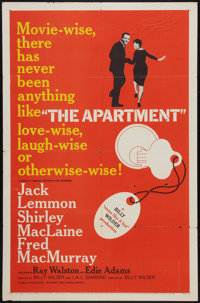 "The Apartment (United Artists, 1960). One Sheet (27"" X 41"") and Lobby Cards (2) (11"" X 14""). Comedy..."