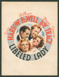 """Movie Posters:Comedy, Libeled Lady (MGM, 1936). Promotional Advertisement (9.25"""" X 12"""").Comedy.. ..."""