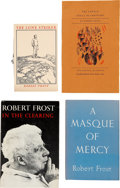 Books:First Editions, Robert Frost. Four First Editions, including: The Lovely ShallBe Choosers. [and:] The Lonely Striker. [and:... (Total:4 Items)