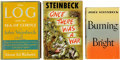 Books:First Editions, John Steinbeck. Three Books, including: Burning Bright. NewYork: Viking Press, 1950. [and:] The Log From the Se... (Total:3 Items)