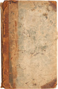 Books:First Editions, [John Windus]. A Journey to Mequinez. London: Jacob Tonson,1725. First edition. Small octavo. Half leather. Both bo...