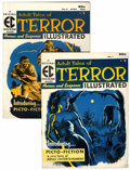 Golden Age (1938-1955):Horror, Terror Illustrated #1 and 2 Multiple Copies Group (EC, 1955-56).