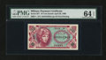 Military Payment Certificates:Series 651, Series 651 10¢ PMG Choice Uncirculated 64 EPQ....