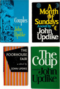 Books:First Editions, John Updike. Five Signed First Edition Novels, including: ThePoorhouse Fair. [and:] Couples. [and:] ... (Total: 5Items)