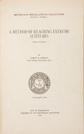Books:First Editions, Robert H. Goddard. A Method of Reaching Extreme Altitudes.Washington, DC: The Smithsonian Institution, 1919.. ...