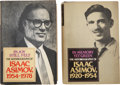 Books:Signed Editions, Isaac Asimov. The Autobiography of Isaac Asimov, Presentation Copies Inscribed to Sam Moskowitz, including. ... (Total: 2 Items)