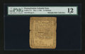 Colonial Notes:Pennsylvania, Pennsylvania May 1, 1760 15s PMG Fine 12....