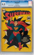 Golden Age (1938-1955):Superhero, Superman #9 (DC, 1941) CGC VG 4.0 Off-white pages....