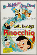 "Movie Posters:Animated, Pinocchio (Buena Vista, R-1962). One Sheet (27"" X 41"") Flat Folded. Animated.. ..."