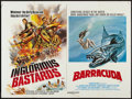 "Movie Posters:Action, The Inglorious Bastards/Barracuda Combo (Entertainment Film Distributors, 1978). British Quad (30"" X 40""). Action.. ..."