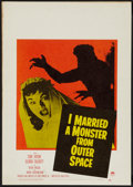 "Movie Posters:Science Fiction, I Married a Monster from Outer Space (Paramount, 1958). Window Card(14"" X 22""). Science Fiction.. ..."