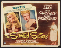"The Sainted Sisters (Paramount, 1948). Half Sheet (22"" X 28"") Style A. Comedy"