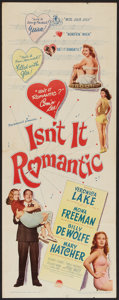 "Movie Posters:Comedy, Isn't It Romantic (Paramount, 1948). Insert (14"" X 36""). Comedy.. ..."