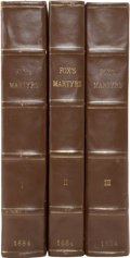 Books:Early Printing, John Foxe. Acts and Monuments of Matters Most Special andMemorable, Happening in the Church; with an Universal Hi... (Total:3 Items)