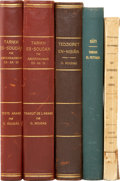 Books:Non-fiction, [African Exploration]. Five Studies of the Sudan and Morocco,including works by: O. Houdas. Four titles. [and:] E... (Total: 5Items)