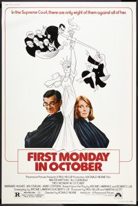"First Monday in October (Paramount, 1981). Poster (40"" X 60""). Comedy"