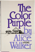 Books:First Editions, Alice Walker. The Color Purple. New York: Harcourt BraceJovanovich, [1982].. First edition, first printing, w...