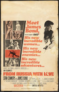 "Movie Posters:James Bond, From Russia with Love (United Artists, 1964). Window Card (14"" X 22""). James Bond.. ..."