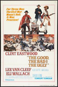 """The Good, the Bad and the Ugly (United Artists, R-1980). International One Sheet (27"""" X 41""""). Western"""