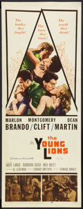 """Movie Posters:War, The Young Lions (20th Century Fox, 1958). Insert (14"""" X 36""""). War....."""