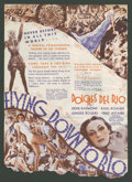 "Movie Posters:Musical, Flying Down to Rio (RKO, 1933). Herald (8.75"" X 12"", Folded Out). Musical.. ..."