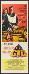 "Movie Posters:Adventure, El Cid (Allied Artists, 1961). Insert (14"" X 36"") and Lobby Card(11"" X 14""). Adventure.. ... (Total: 2 Items)"