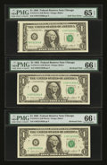 Error Notes:Foldovers, Foldover Error with Bookends. Fr. 1913-G $1 1985 Federal ReserveNotes.. ... (Total: 3 notes)