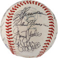 Autographs:Baseballs, 1975 New York Yankees Team-Signed Baseball....