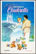 "Movie Posters:Animated, Cinderella (Buena Vista, R-1981). Poster (40"" X 60""). Animated.. ..."