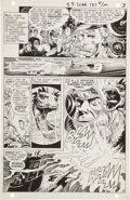 Original Comic Art:Panel Pages, Joe Kubert Star Spangled War Stories #137 War That TimeForgot page 3 Original Art (DC, 1968)....