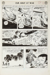"""Joe Kubert Our Army at War #132 Sgt. Rock """"Young Soldiers Never Cry"""" page 12 Original Art (DC, 1963)"""